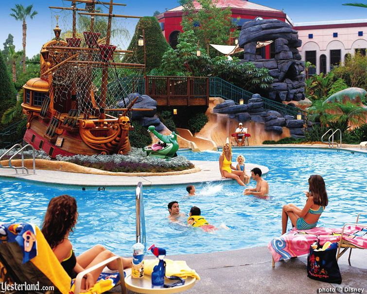 Hotel Pool History The Disneyland Hotel
