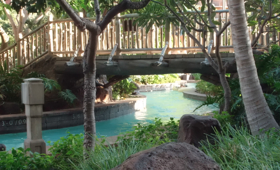 Disney Aulani Lazy River Bridge