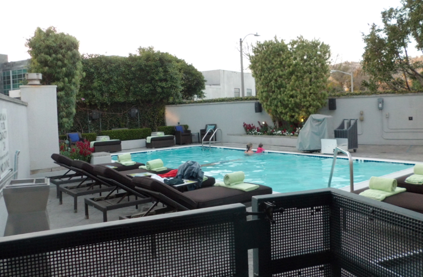The Pool At Sofitel Los Angeles At Beverly Hills California