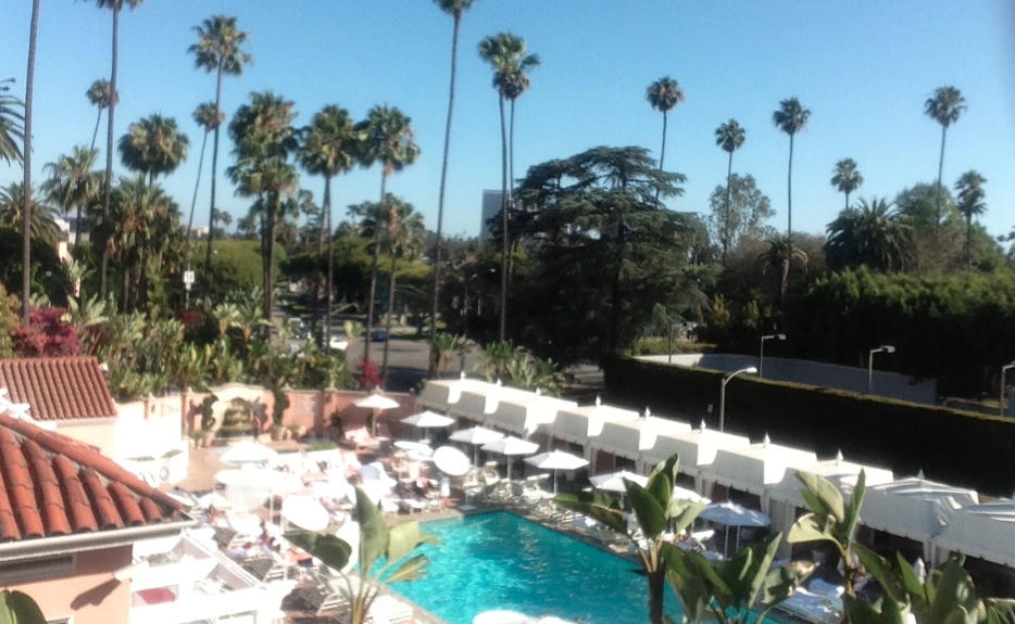 Beverly Hills Hotel Pool, July 2013