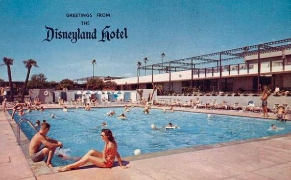Disneyland Hotel Vintage Postcard